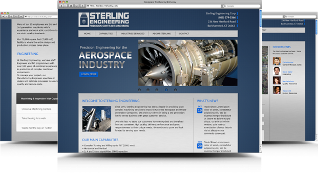 Sterling Engineering website design by PictureThisWEBCENTER